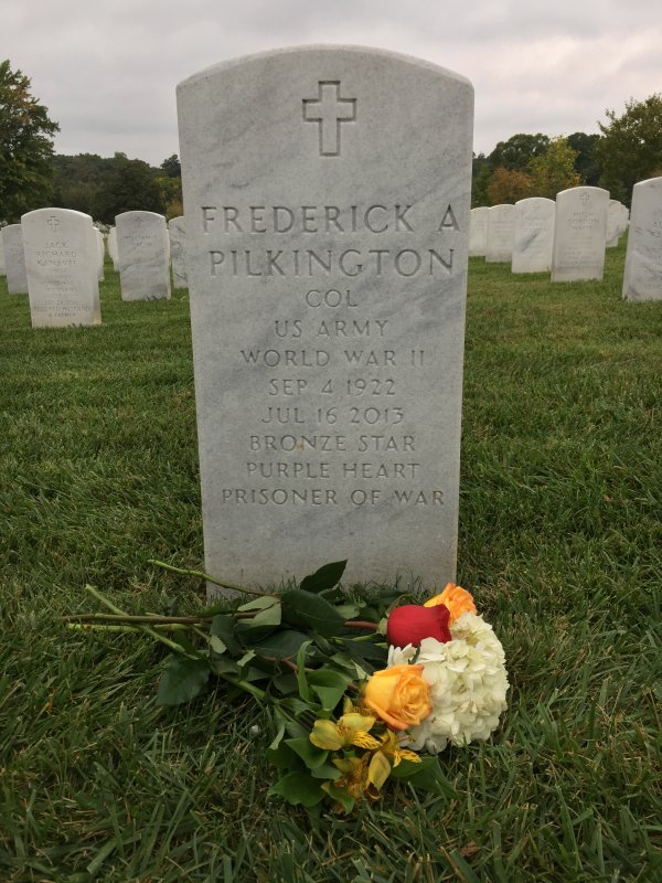 Fred Pilkington's headstone